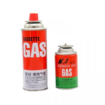 227g Round Shape Portable Round Shape Portable butane gas cartridge can for portable gas stove