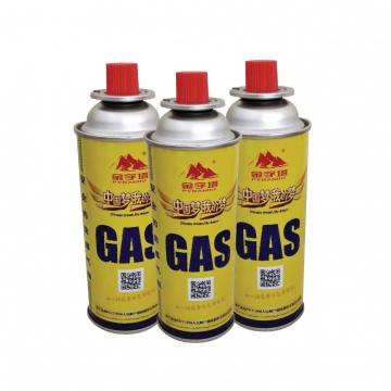 Camping Round Shape Factory custom logo diameter 100-300ml tin aerosol gas straight can metal butane gas can