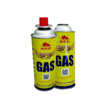 Round Shape Portable butane gas cartridge can for portable gas stove  lighter gas refill 250ml